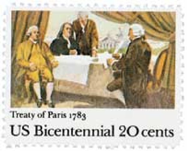 1983 20c Signing of Treaty of Paris