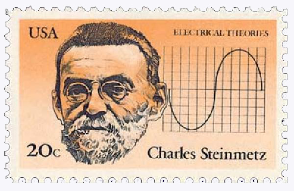 1983 20c American Inventors: Charles Steinmetz, Electrical Theories