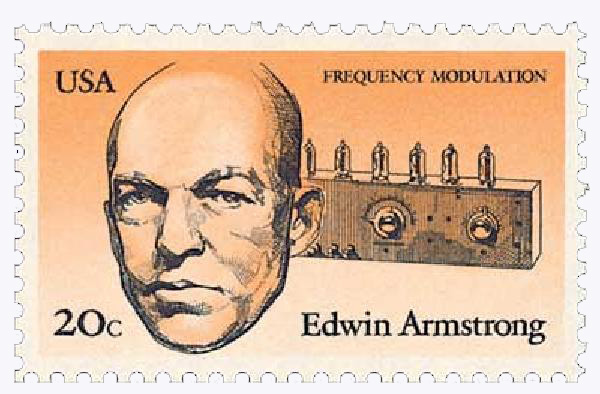 1983 20c American Inventors: Edwin Armstrong, Frequncy Modulation