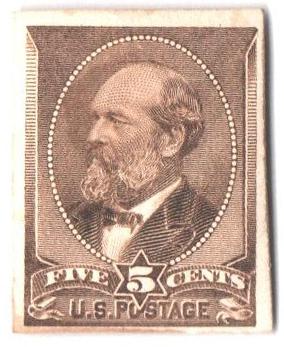 1881-82 5c yellow brown