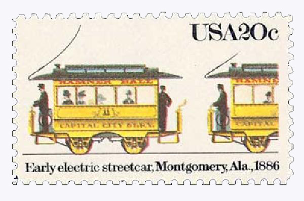 1983 20c Street Cars: Early Electric, 1886