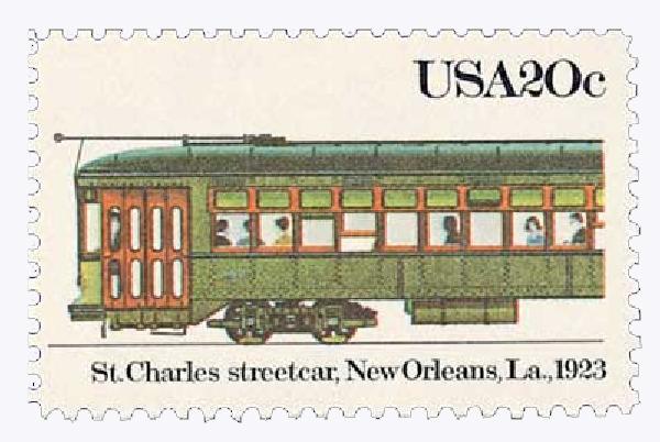 1983 20c Street Cars: St. Charles, 1923