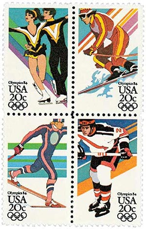 1984 20c 14th Winter Olympic Games
