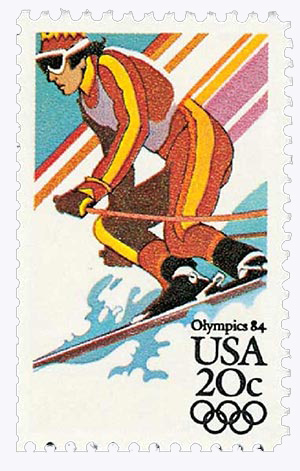 1984 20c Alpine Skiing
