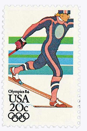 1984 20c 14th Winter Olympic Games: Nordic Skiing
