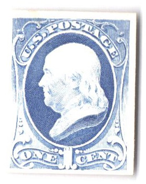 1881 1c Franklin, re-engrave Proof on