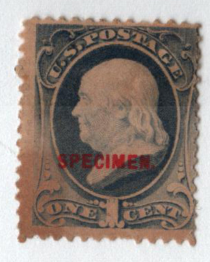 1881-82 1c gray blue