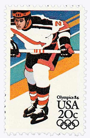 1984 20c 14th Winter Olympic Games: Hockey