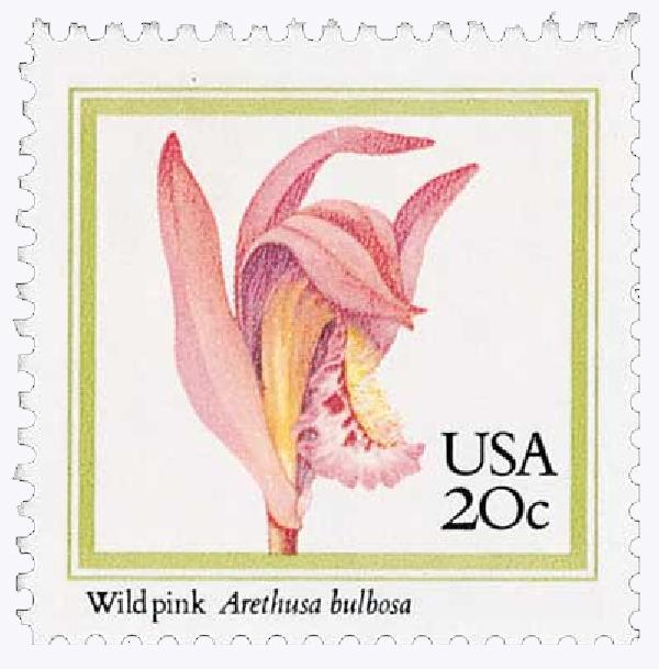 1984 20c Orchids: Wild Pink