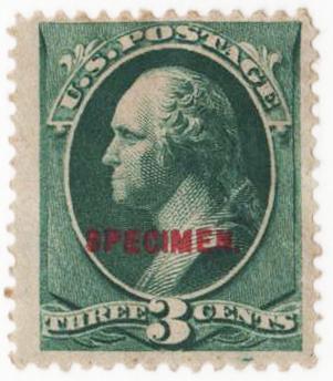 1881-82 3c blue green
