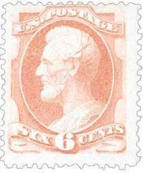 1881-82 6c Lincoln, rose