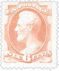 1881-82 6c Lincoln, rose