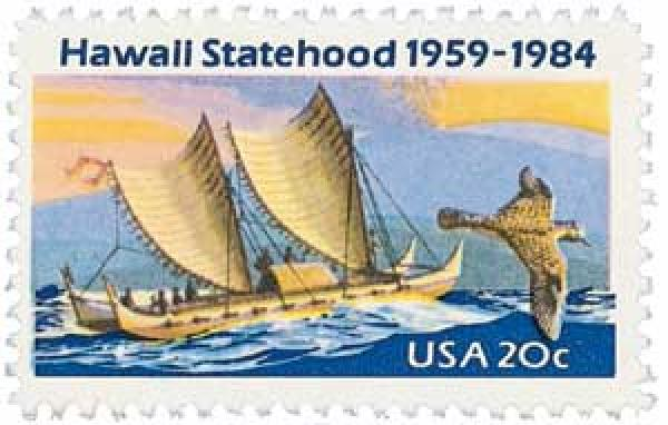 1984 20c Hawaii Statehood