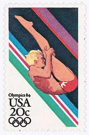 1984 20c Los Angeles Summer Olympics: Diving