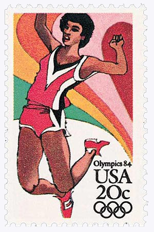 1984 20c Los Angeles Summer Olympics: Long Jump