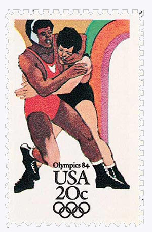 1984 20c Los Angeles Summer Olympics: Wrestling
