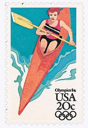 1984 20c Los Angeles Summer Olympics: Kayak