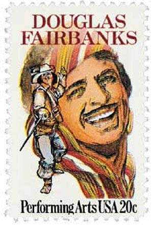 1984 20c Performing Arts: Douglas Fairbanks