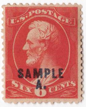1889 6c vermilion (blue)