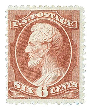 1882 6c Lincoln, brown red