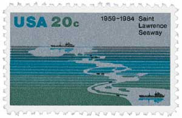 1984 20c Saint Lawrence Seaway