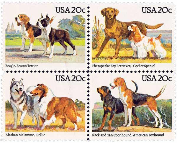 1984 20c Dogs