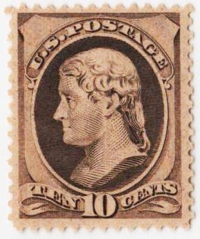 1889 10c brown