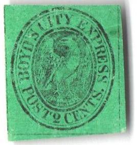 1857 2c black, green