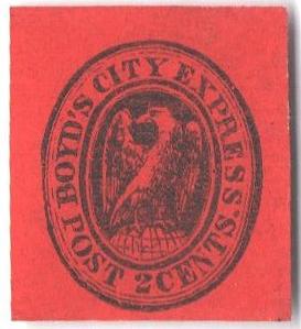 1866 2c black, red