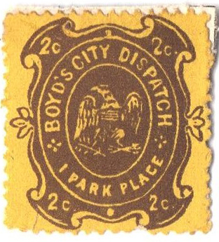 1877 2c brown, yellow paper