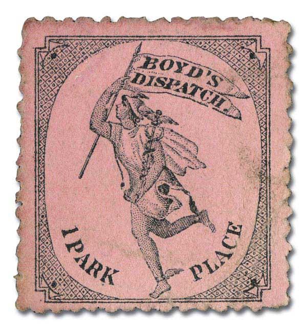 1878 1c black, pink