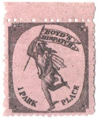 1880 (1c) black, on lavender