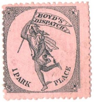 1880 (1c) black, on lilac pink