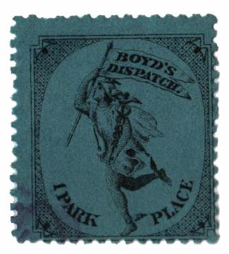 1881 1c black, blue