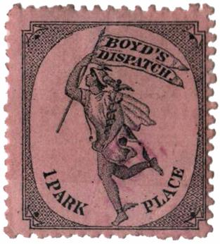 1881 (1c) black, lilac pink