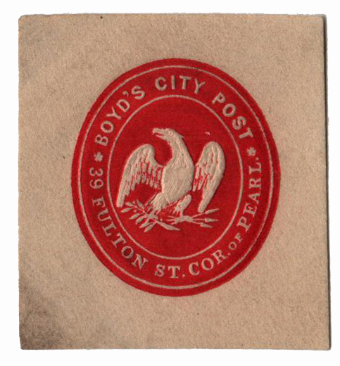 1864 Boyd's City Post, red