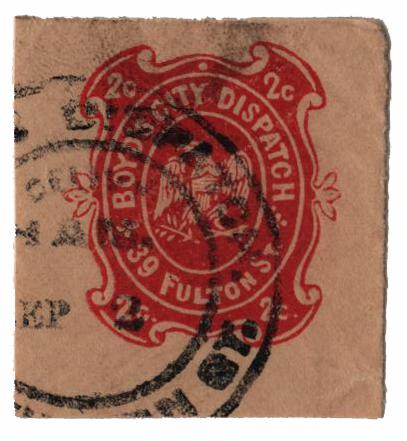 1867 2c red, cream