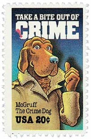 1984 20c McGruff the Crime Dog, Crime Prevention