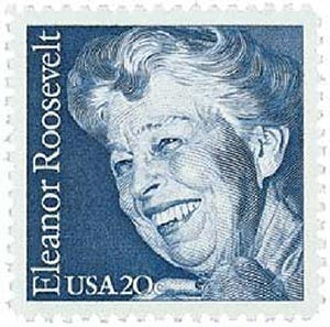 U.S. #2105 was issued on Eleanor's 100th birthday.