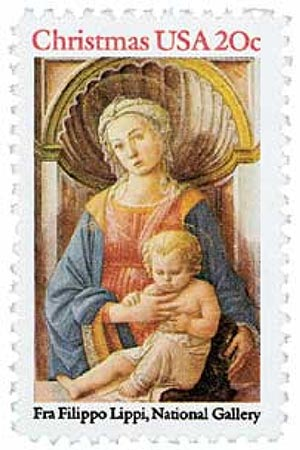 1984 20c Traditional Christmas: Madonna and Child