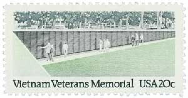 U.S. #2109 – The Legion was the single greatest contributor to the Vietnam Veterans Memorial.