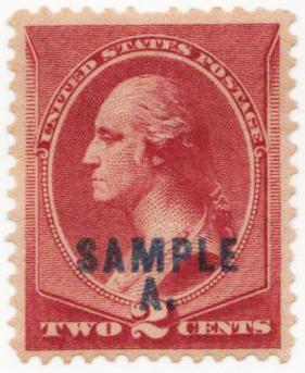 1889 2c Specimen Stamp, rose lake 'Sample A.'