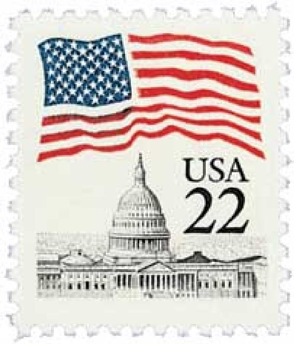 1985 22c Flag Over Capitol
