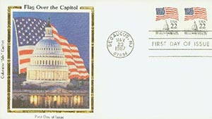 1987 22c Flag Over Capitol,'T'inscribed