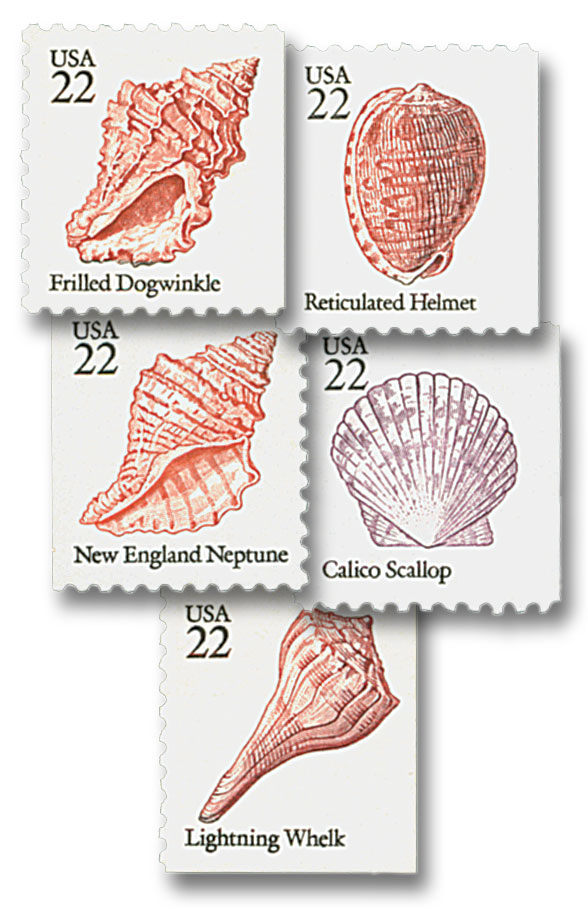 1985 22c Seashells