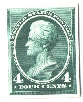 1883 4c Jackson, blue green