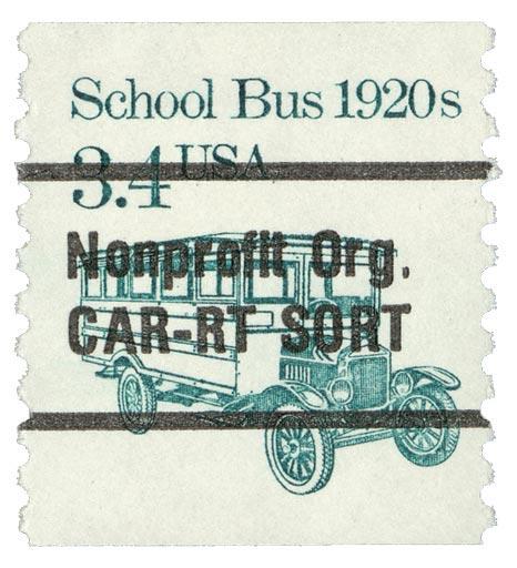 1985 3.4c School Bus, precancel, coil