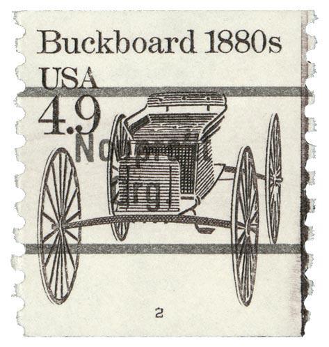 1985 4.9c Buckboard, precancel, coil