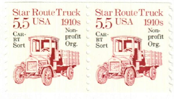 1986 5.5c Star Route Truck, precancel