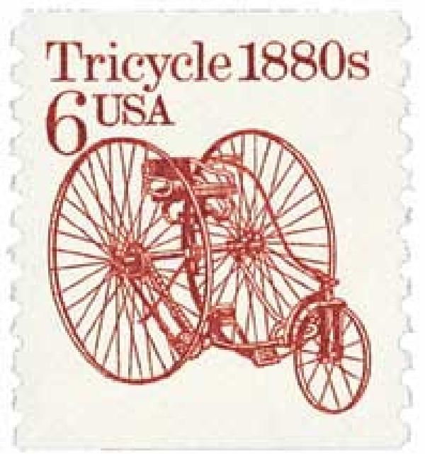 1985 6c Transportation Series: Tricycle 1880s